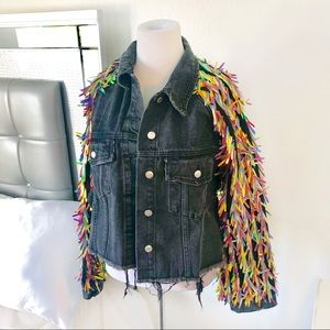 Fun Fringe Coachella Jean Jacket